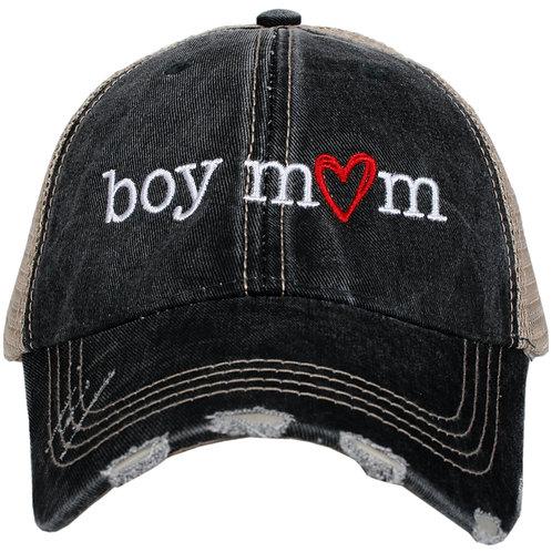 Boy Mom (Red Heart) Trucker Hat