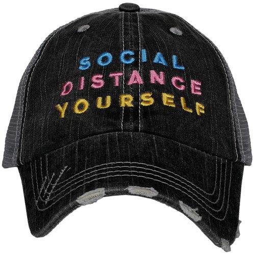 Social Distance Yourself Trucker Hat