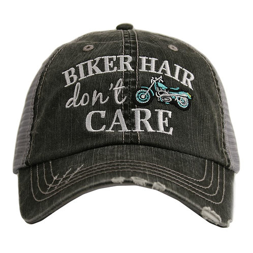 Biker Hair Don't Care Trucker Hat