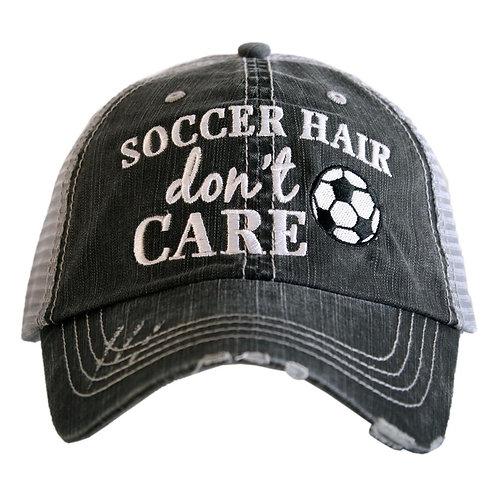 Soccer Hair Don't Care Trucker Hat