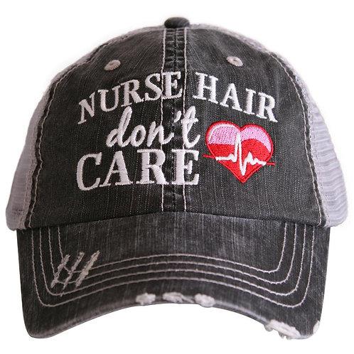 Nurse Hair Don't Care (EKG) Trucker Hat