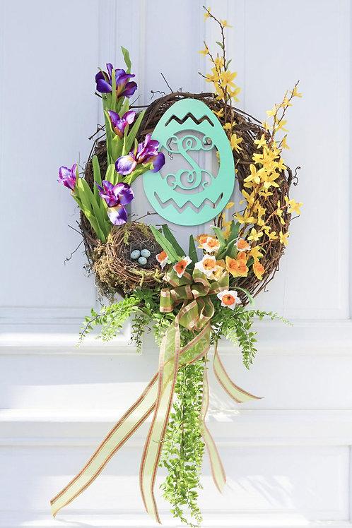 Easter Wood Monogram