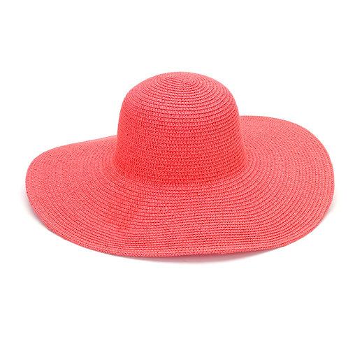 Coral Floppy Hat