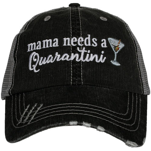 Mama Needs A Quarantini Women's Trucker Hat