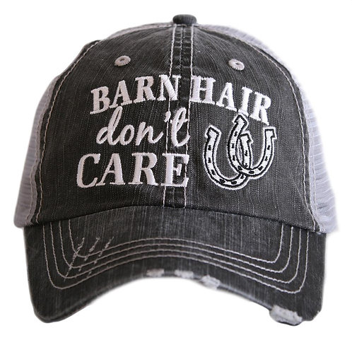Barn Hair Don't Care (Horse Shoe) Trucker Hat