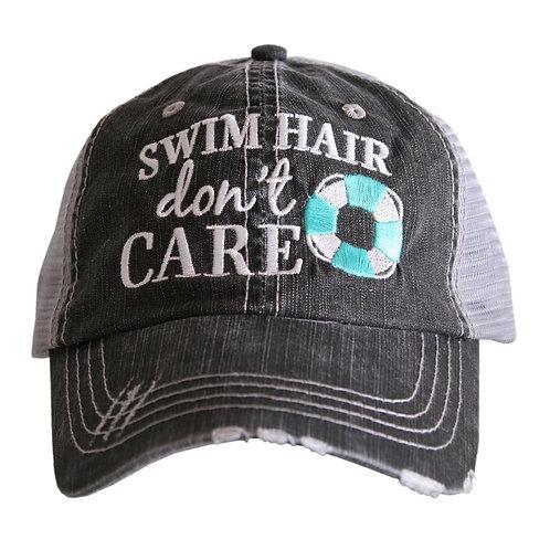 Swim Hair Don't Care Trucker Hat