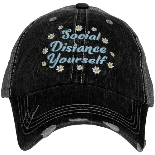 Social Distance Yourself with Flowers Trucker Hat