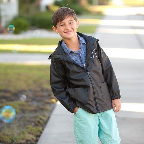 Kid's Black Rain Jacket