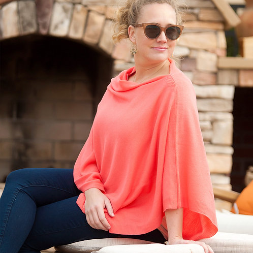 Coral Chelsea Poncho