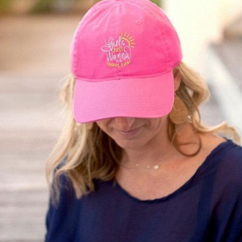 Hot Pink Girls Just Wanna Have Sun Cap