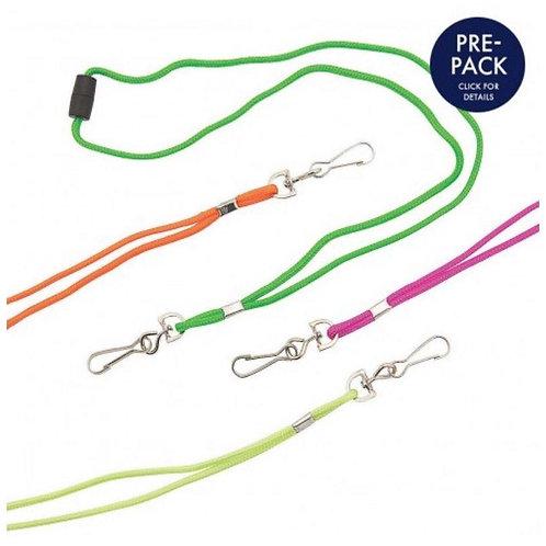 12-Pack, Neon Breakaway Lanyards