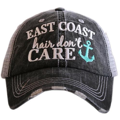 East Coast Hair Don't Care Trucker Hat