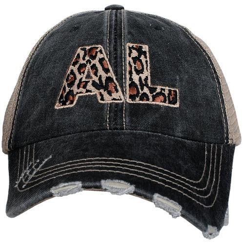 Alabama Leopard State Trucker Hat