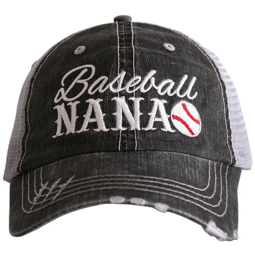 Baseball Nana Trucker Hat