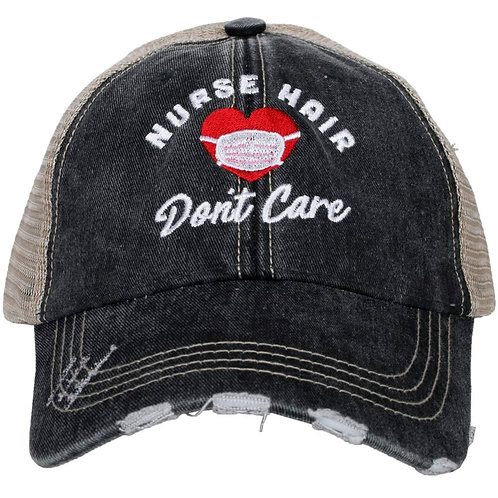 Nurse Hair Don't Care (Mask) Trucker Hat
