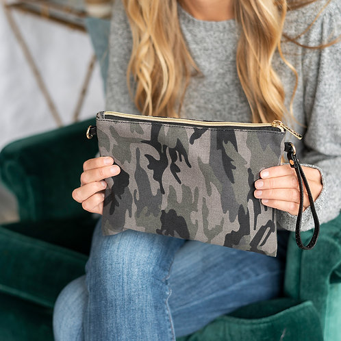 Black Camo Hayley Purse