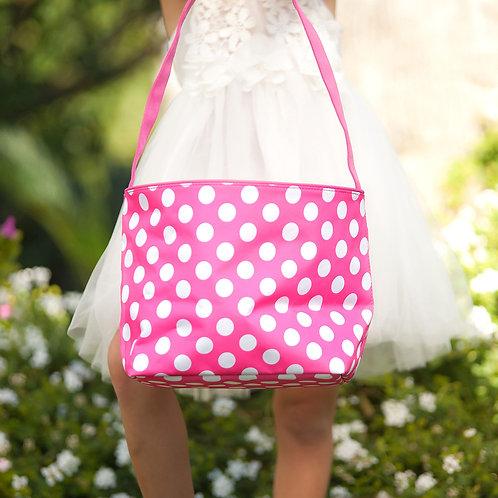 Hot Pink Dot Easter Bucket