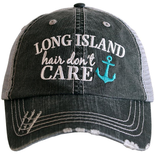 Long Island Hair Don't Care (Anchor Style) Trucker Hat