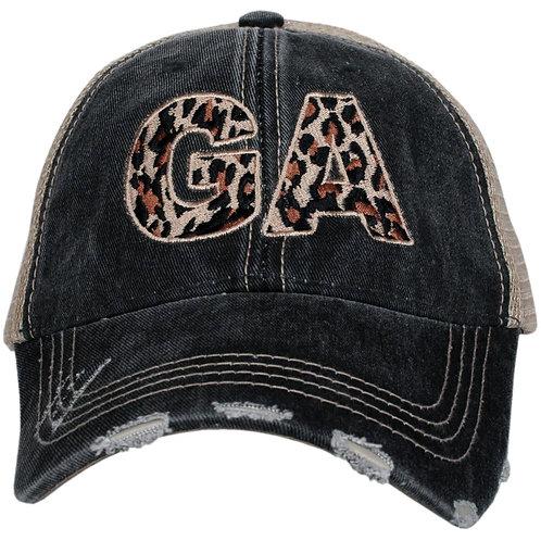 Georgia Leopard State Trucker Hat