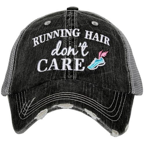 Running Hair Don't Care Trucker Hat