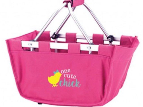 One Cute Chick Hot Pink Mini Market Tote