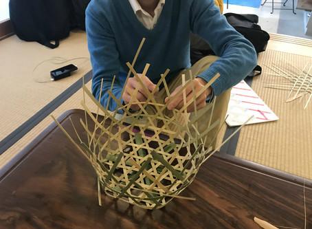 竹かごを作りました。