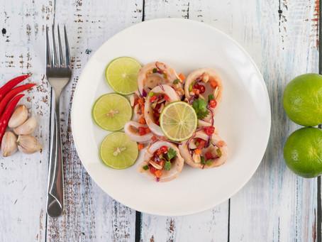 Salate ușoare cu calmari