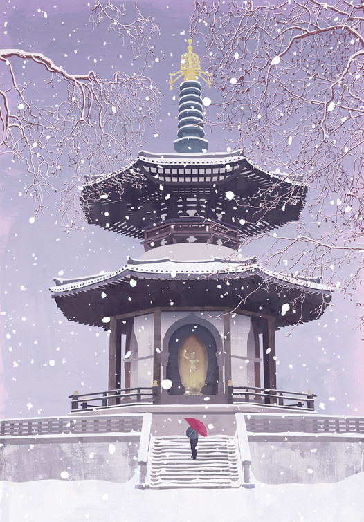 Pagoda / Greetings Card