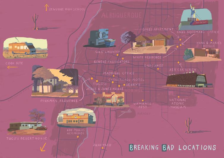 Breaking Bad Map