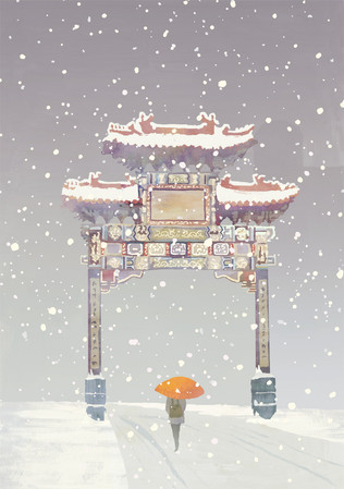 London Winter / Greetings Cards