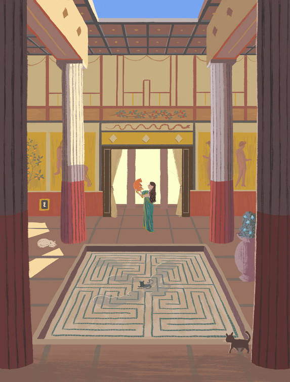 Labyrinth in Pompeii