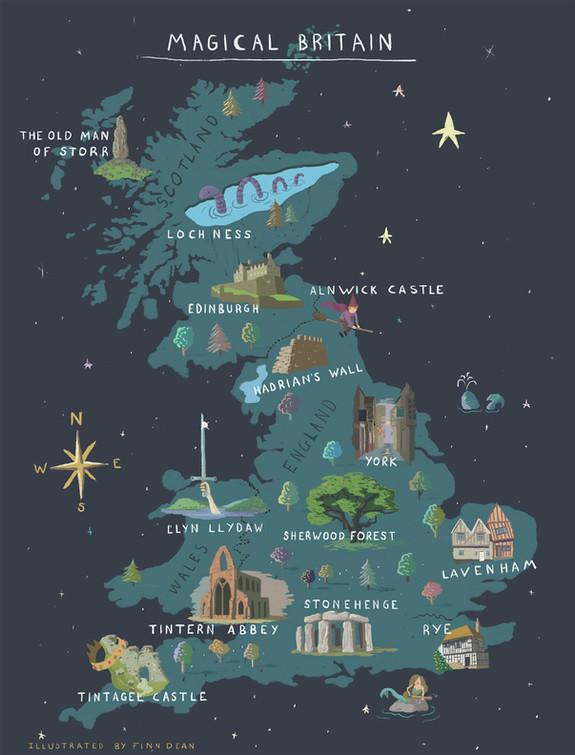 Magical Britain Map