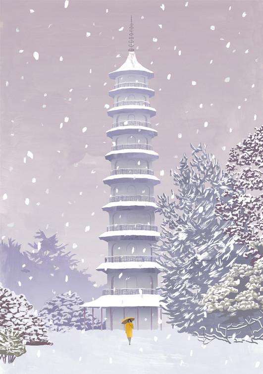 Kew Gardens / Greetings Card