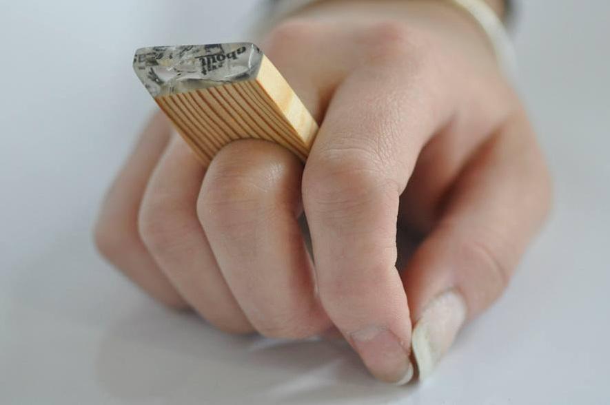paper, resin, wood. (16)