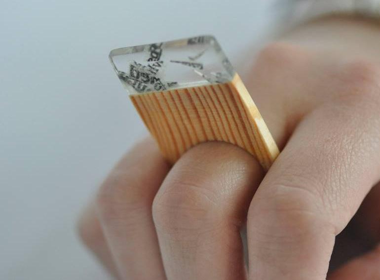 paper, resin, wood. (14)