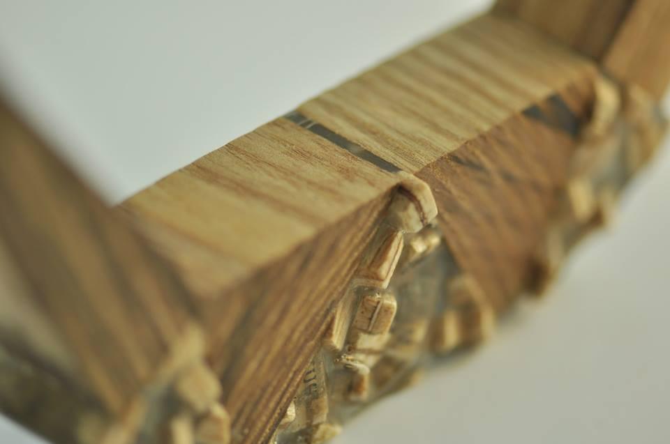 paper, resin, wood. (5)