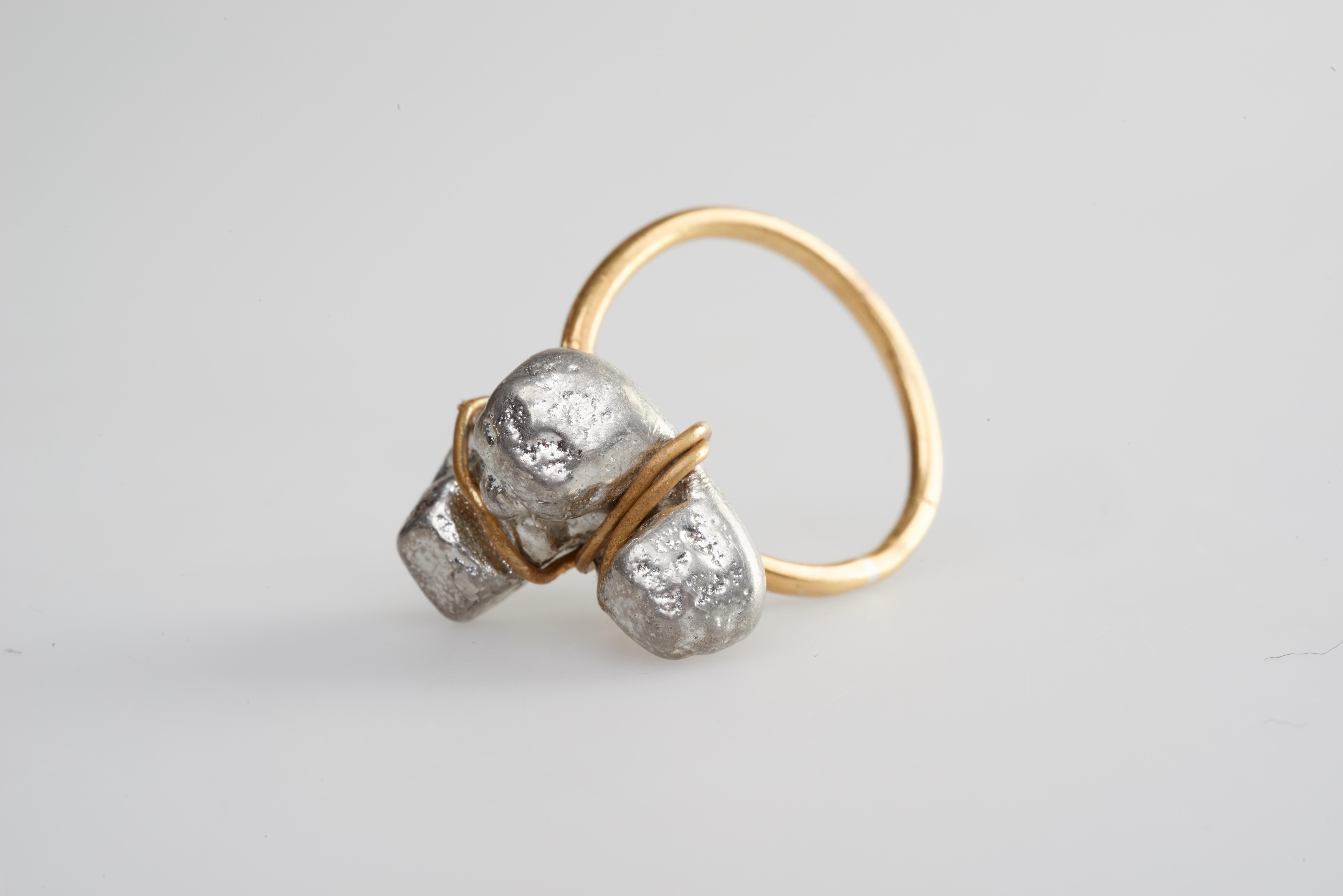 ring- brass, pewter.