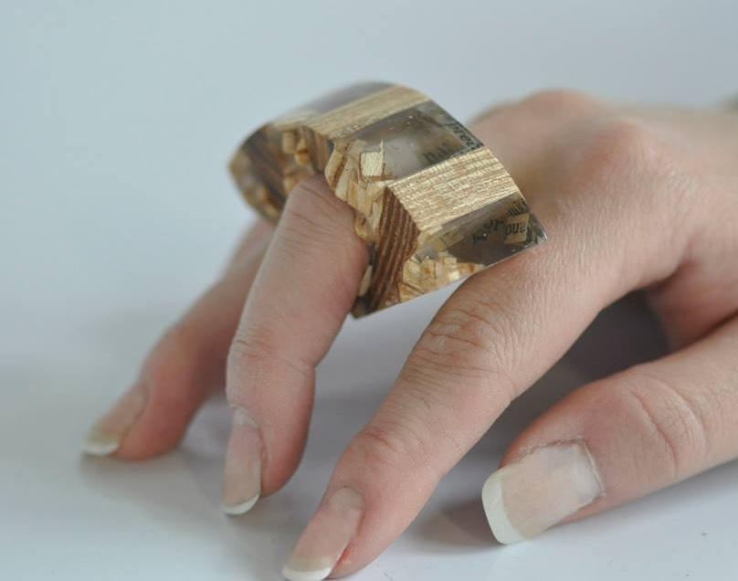 paper, resin, wood. (11)