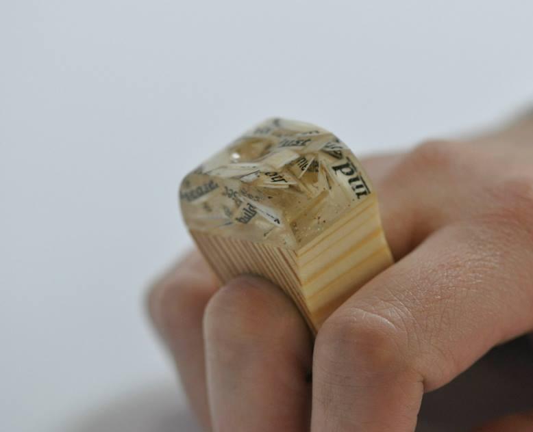 paper, resin, wood. (15)