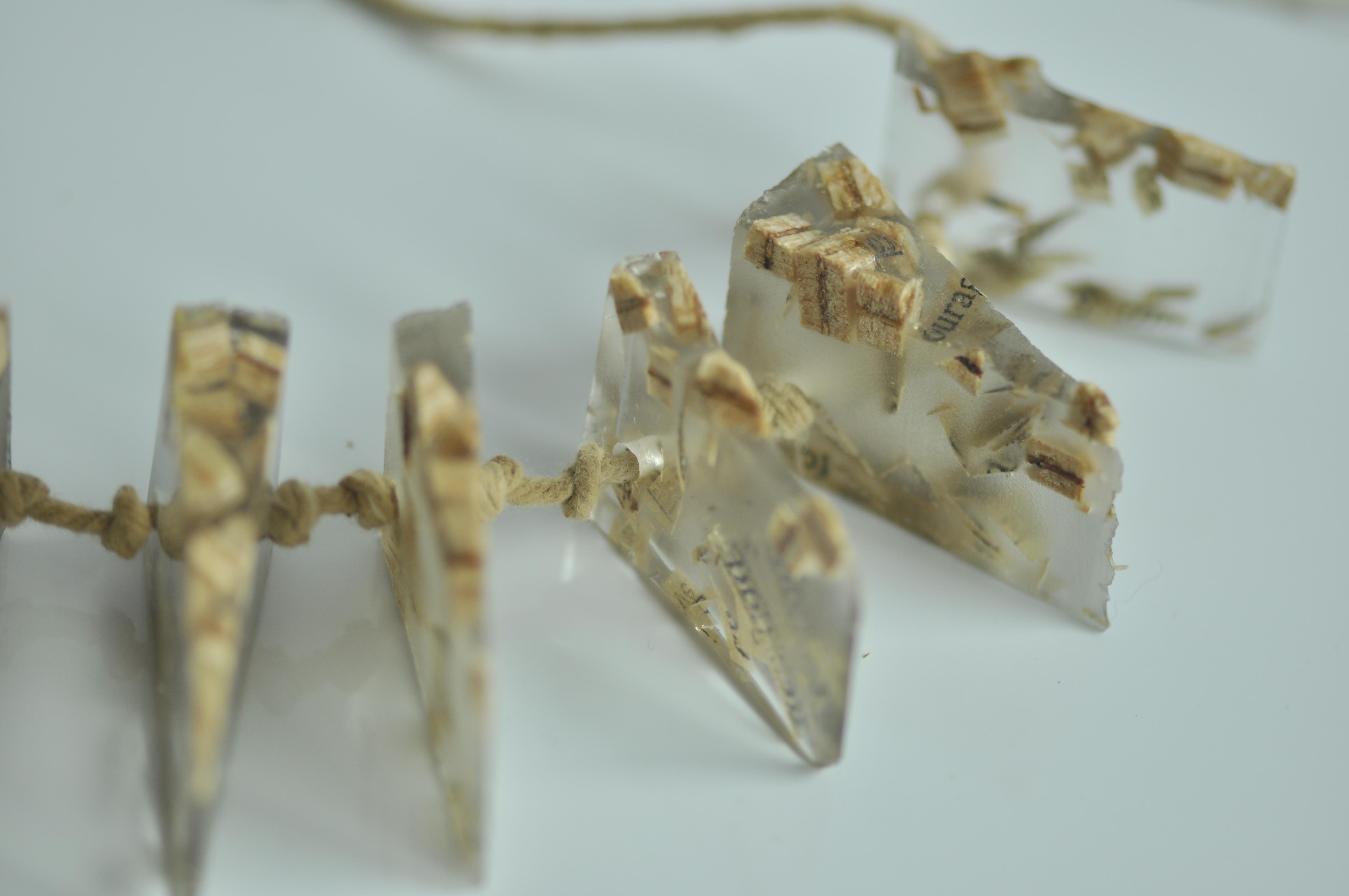 paper, resin, wood. (2)