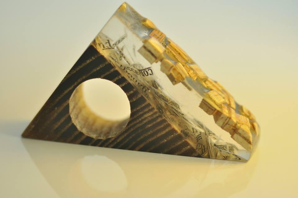 paper, resin, wood. (8)