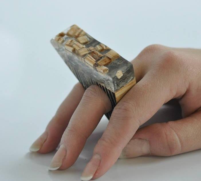 paper, resin, wood. (9)
