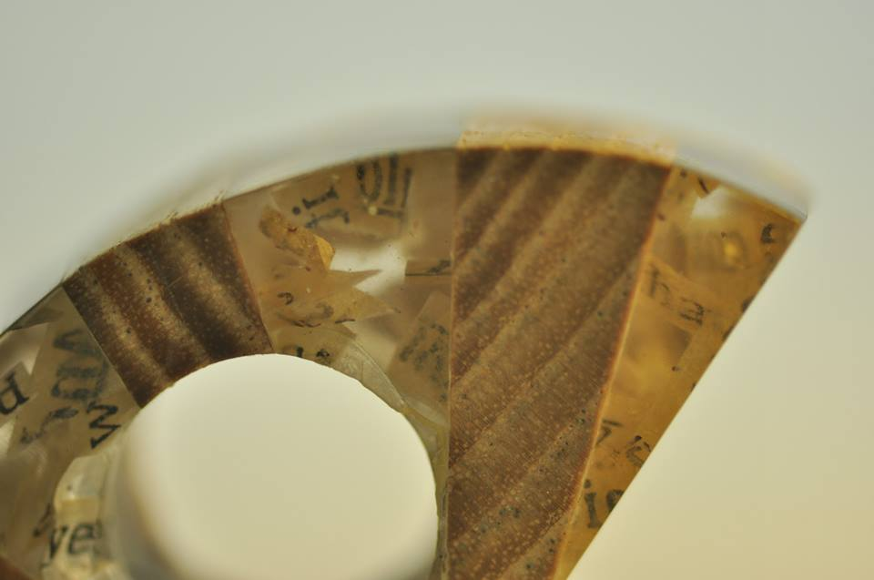 paper, resin, wood. (12)
