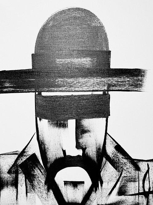 Man in Hat 499 Print
