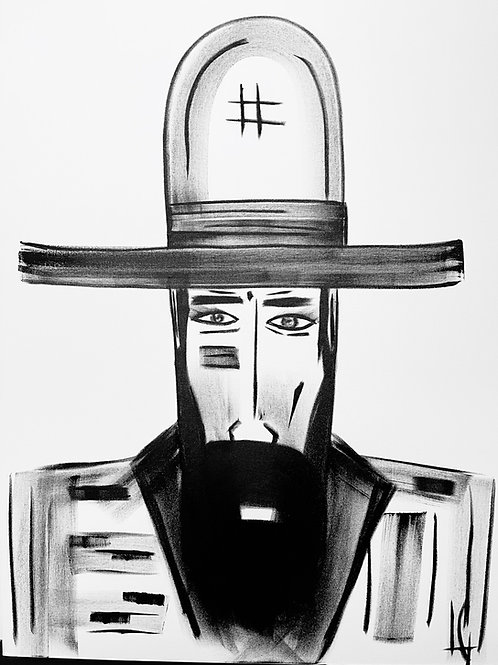 Man in Hat 554