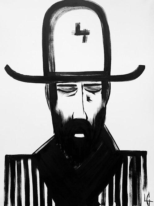 Man in Hat 300 Print