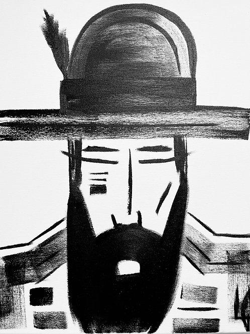 Man in Hat 566