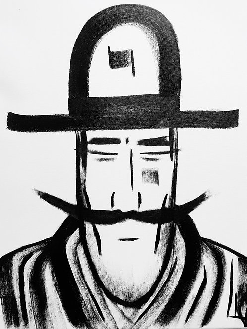 Man in Hat 502