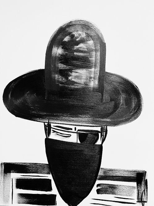 Man in Hat 382 | Large