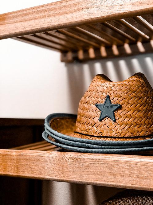 Kids Straw Sherriff Hat